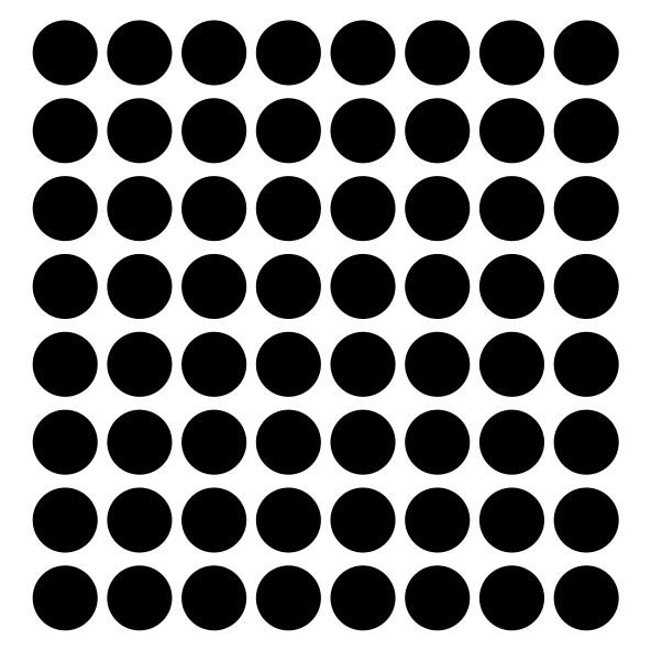 "Sticker decorativ - ""CERCURI BULINE FORMA GEOMETRICA"" - 64BUC 2"