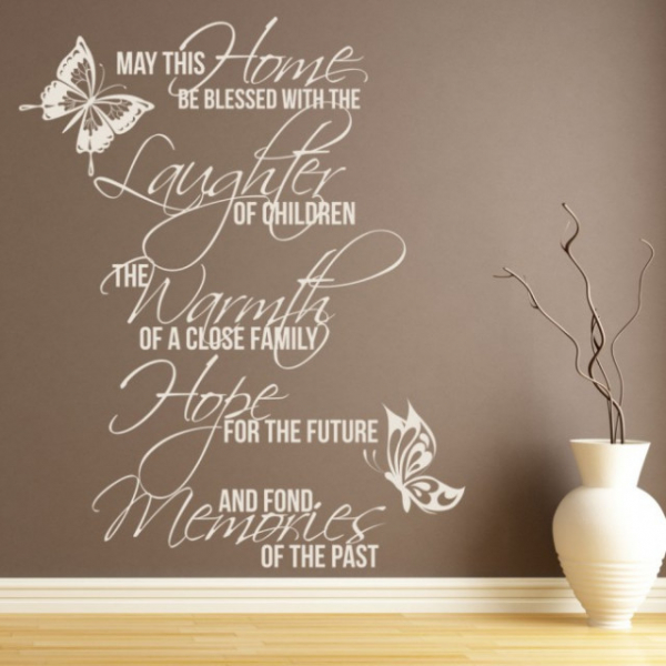 Sticker decorativ - MAY THIS HOME 0