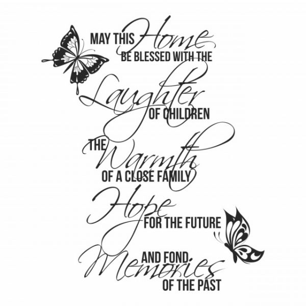 Sticker decorativ - MAY THIS HOME 1