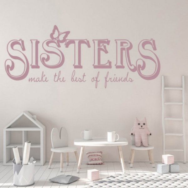 Sticker decorativ - SISTERS FRIENDS 1