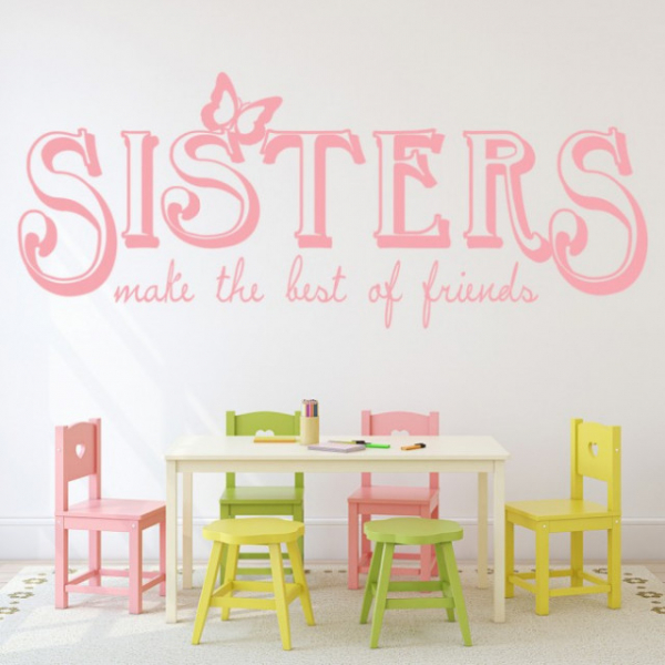Sticker decorativ - SISTERS FRIENDS 0