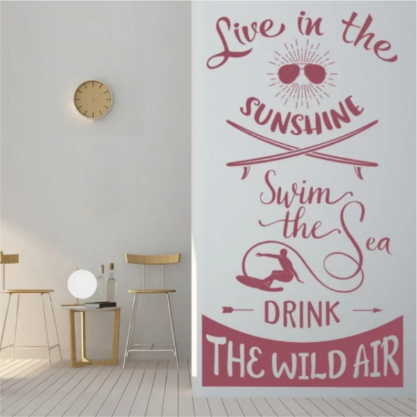 Sticker decorativ - SWIM THE SEA 0