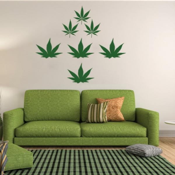 Sticker decorativ - WEED CANNABIS 0