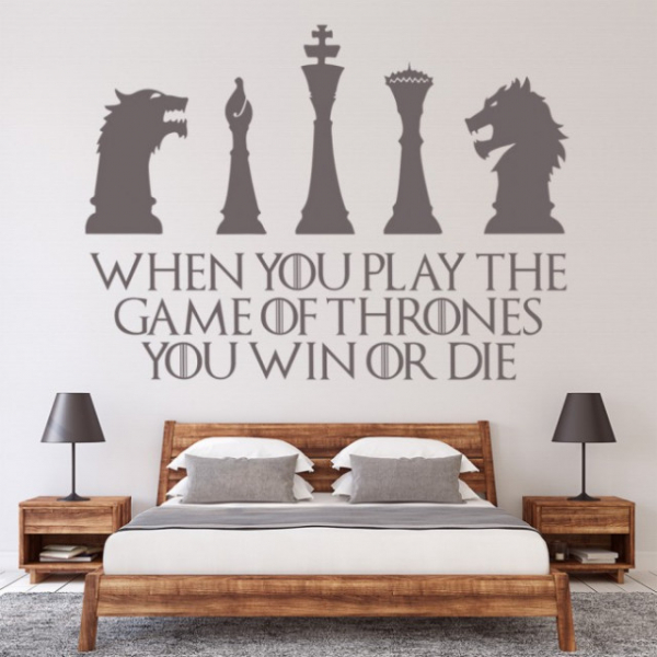 Sticker decorativ - WIN OR DIE QUOTE GAME OF THRONES 1