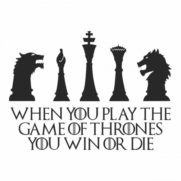 Sticker decorativ - WIN OR DIE QUOTE GAME OF THRONES 2