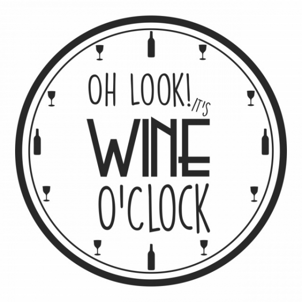 Sticker decorativ - WINE O'CLOCK [2]