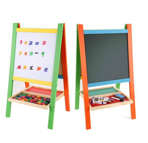 Tabla magnetica educativa cu doua fete si suport 0