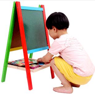 Tabla magnetica educativa cu doua fete si suport 1