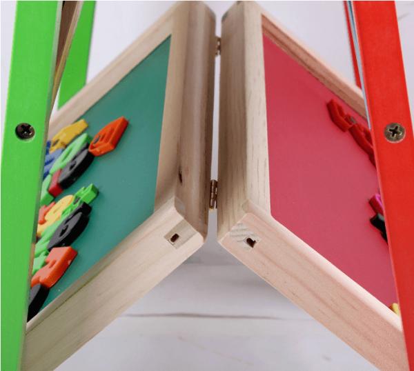 Tabla magnetica educativa cu doua fete si suport 2