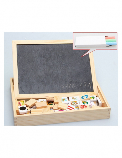 Tablita Magnetica Cu Litere Si Cifre Matematica Din Lemn 1