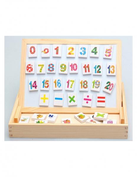 Tablita Magnetica Cu Litere Si Cifre Matematica Din Lemn 5