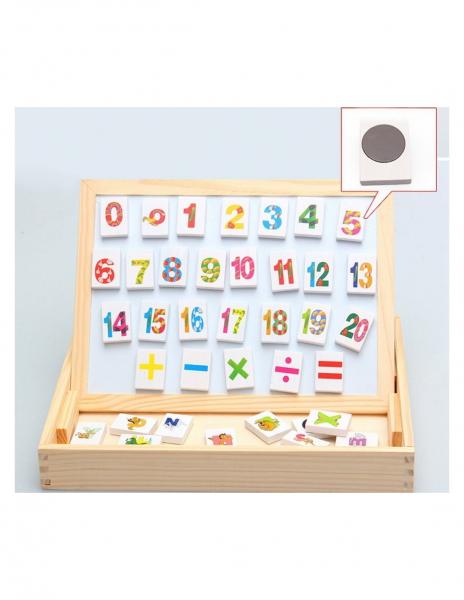 Tablita Magnetica Cu Litere Si Cifre Matematica Din Lemn 2