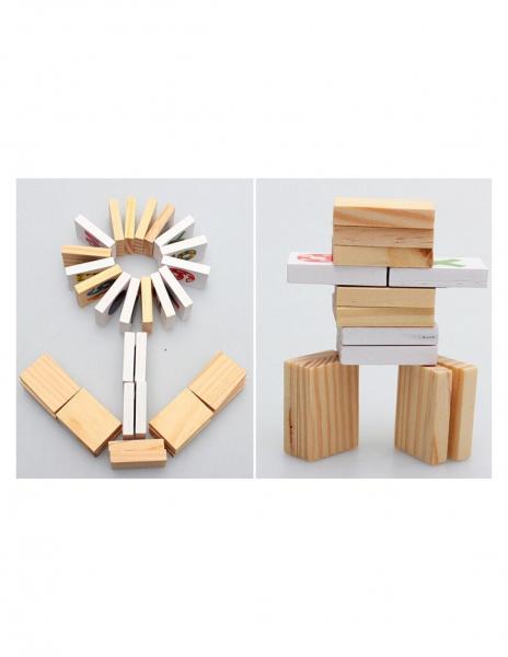 Tablita Magnetica Cu Litere Si Cifre Matematica Din Lemn 6