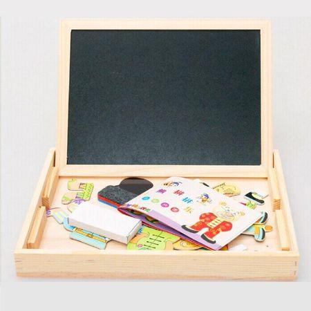 Tablita magnetica din lemn 3 in 1 cu ursuleti 3