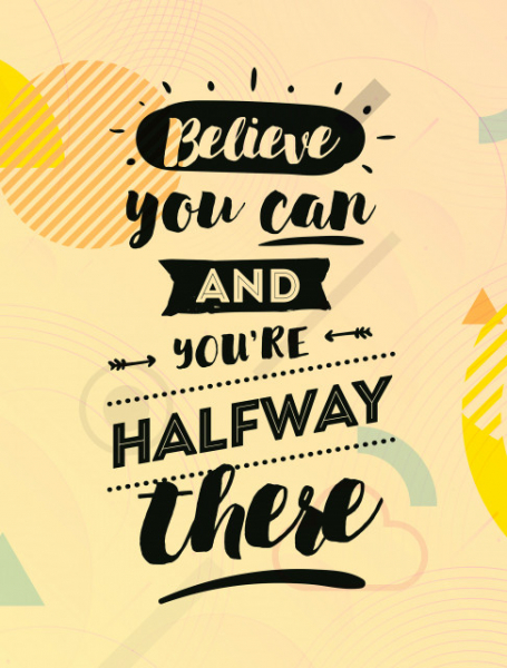 TABLOU CANVAS MOTIVATIONAL - BELIEVE YOU CAN! 2
