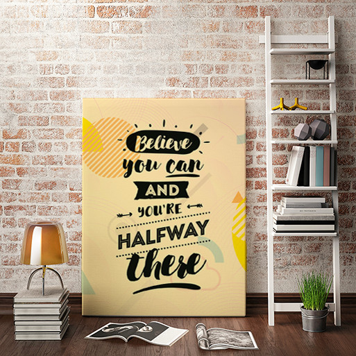 TABLOU CANVAS MOTIVATIONAL - BELIEVE YOU CAN! 0