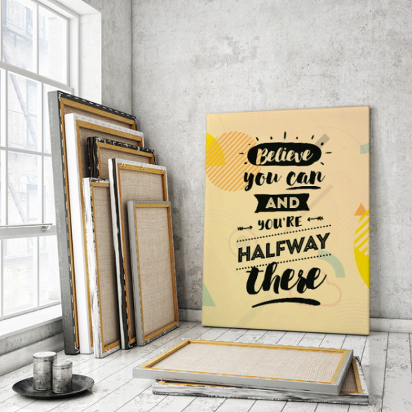 TABLOU CANVAS MOTIVATIONAL - BELIEVE YOU CAN! 1