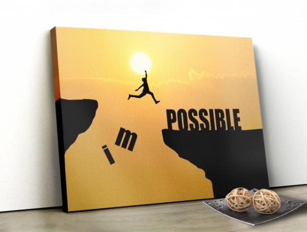 Tablou canvas MOTIVATIONAL - IMPOSSIBLE 0