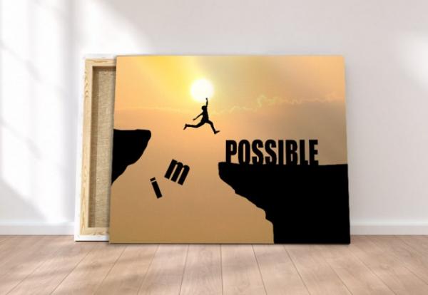 Tablou canvas MOTIVATIONAL - IMPOSSIBLE 3