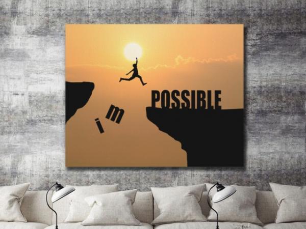 Tablou canvas MOTIVATIONAL - IMPOSSIBLE 4