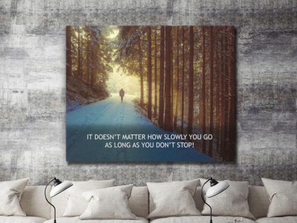 Tablou canvas motivational - JUST WALK! 4