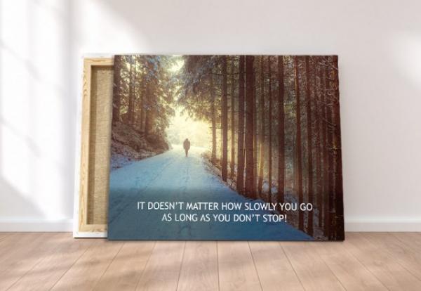 Tablou canvas motivational - JUST WALK! 3