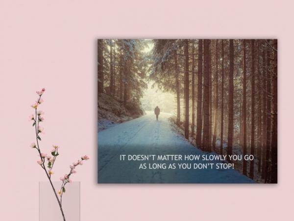 Tablou canvas motivational - JUST WALK! 2
