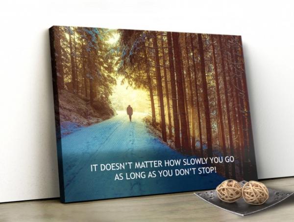 Tablou canvas motivational - JUST WALK! 0
