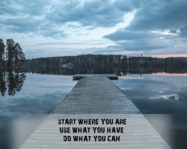 Tablou canvas motivational - START WHERE YOU ARE 1