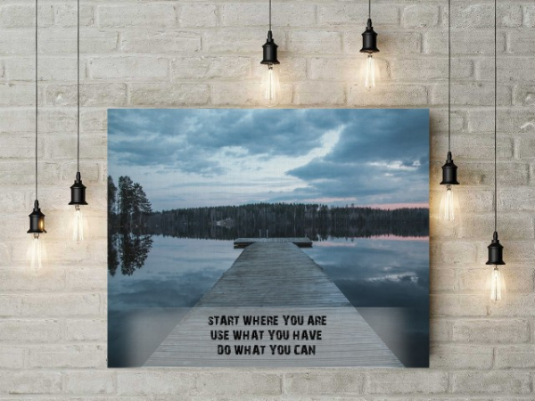 Tablou canvas motivational - START WHERE YOU ARE 2