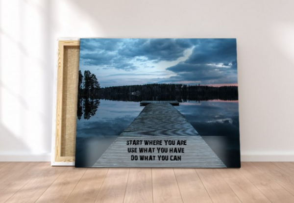 Tablou canvas motivational - START WHERE YOU ARE 3