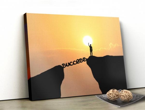 Tablou canvas motivational - SUCCESS 0