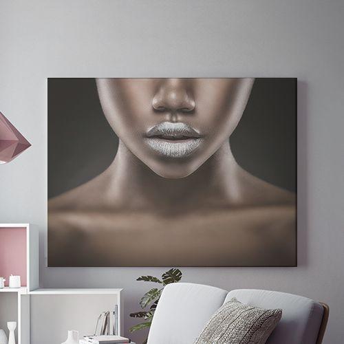 Tablou canvas - SILVER LIPS 0