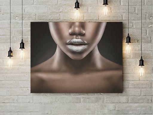 Tablou canvas - SILVER LIPS 1