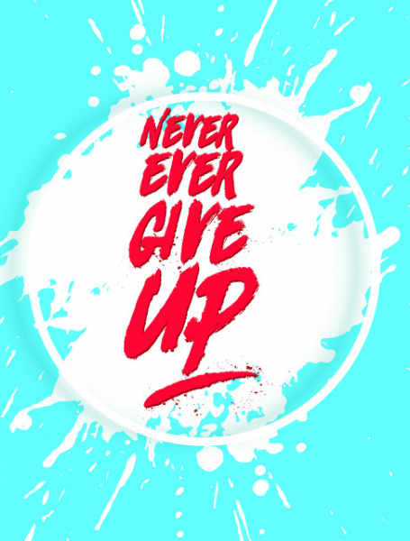 TABLOU MOTIVATIONAL - NEVER EVER GIVE UP! 2