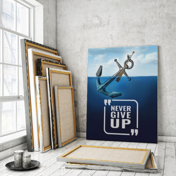 TABLOU MOTIVATIONAL - NEVER GIVE UP (ANCHOR) 0