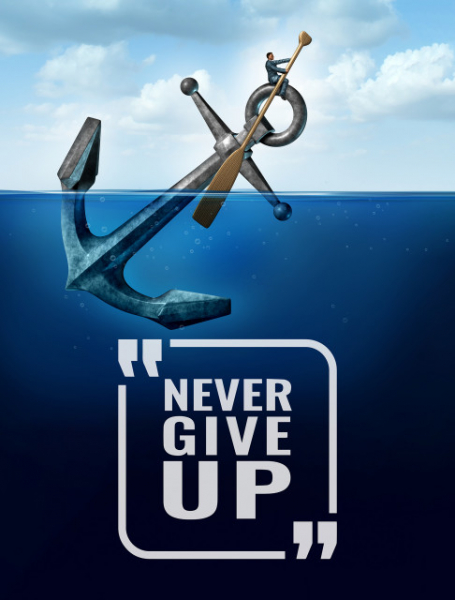 TABLOU MOTIVATIONAL - NEVER GIVE UP (ANCHOR) 2