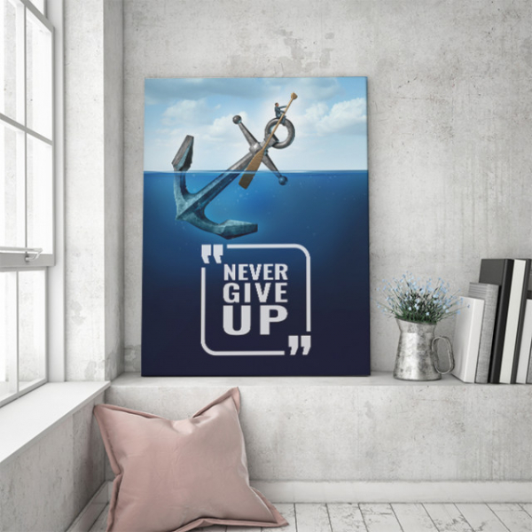 TABLOU MOTIVATIONAL - NEVER GIVE UP (ANCHOR) 1