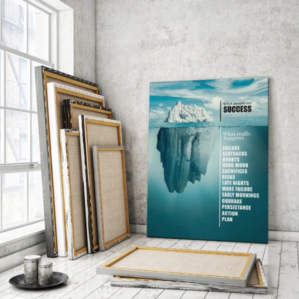 TABLOU MOTIVATIONAL - SUCCESS LIKE AN ICEBERG 0