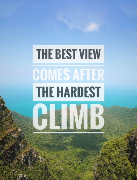 TABLOU MOTIVATIONAL - THE BEST VIEW 2