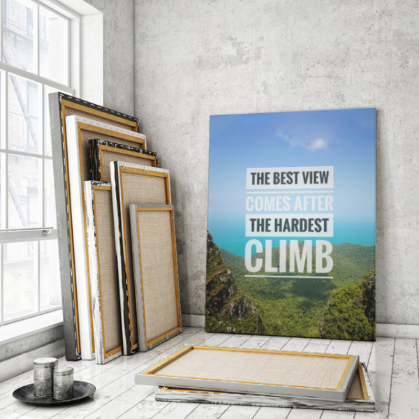 TABLOU MOTIVATIONAL - THE BEST VIEW 0