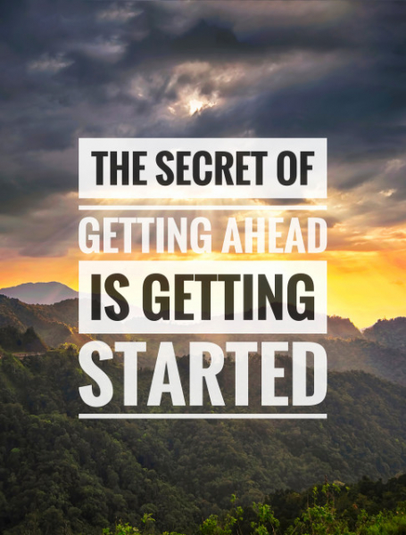 TABLOU MOTIVATIONAL - THE SECRET OF GETTING AHEAD 2
