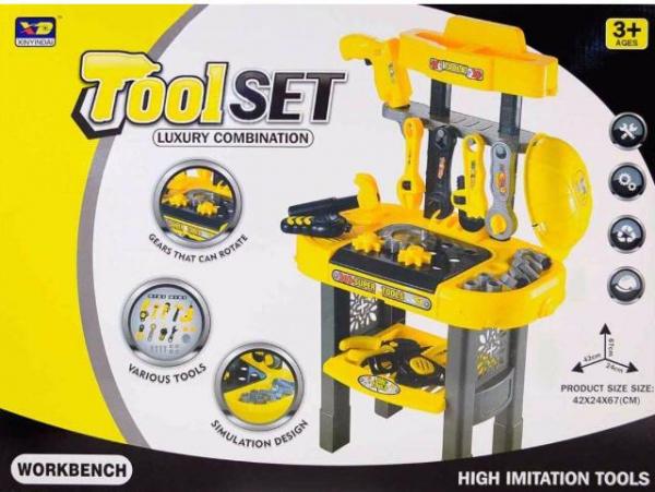 Set banc de lucru cu scule de jucărie pentru copii 5