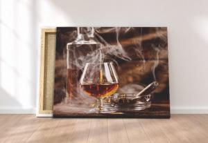 Tablou canvas - SMOKE AND WHISKEY1