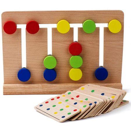 Joc Montessori Din Lemn Labirint Asociază Culorile0