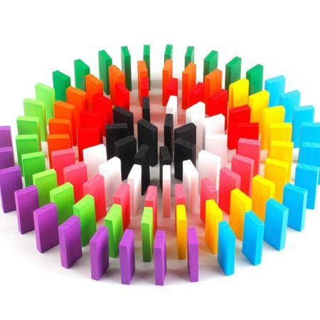 Domino multicolor, din lemn, cu 600 piese [0]