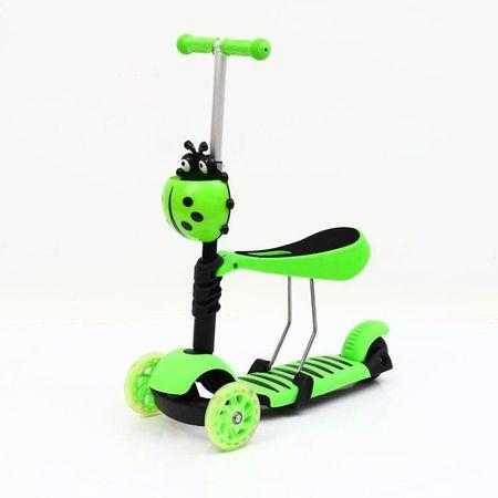 Trotineta evolutiva Scooter 3 in 1 cu lumini LED pentru copii - 4 culori disponibile3
