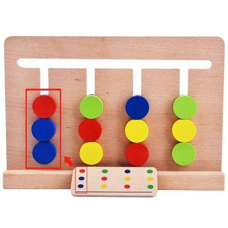 Joc Montessori Din Lemn Labirint Asociază Culorile1