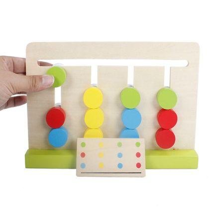 Joc Montessori Din Lemn Labirint Asociază Culorile2