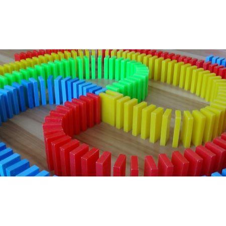 Domino multicolor, din lemn, cu 1000 piese [2]